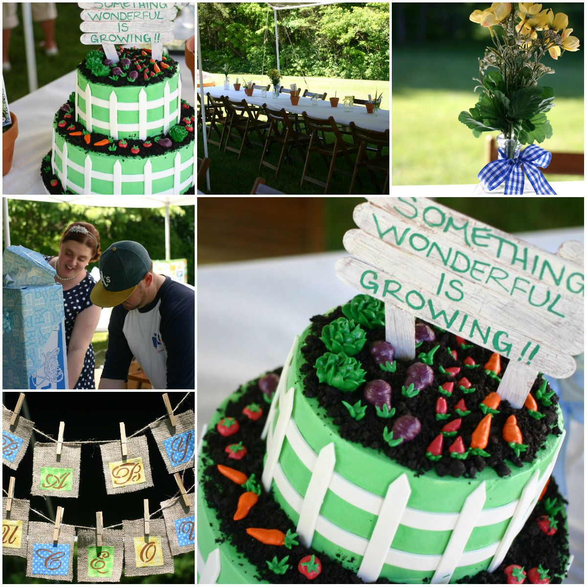 Veggie Garden Baby Shower themed picture collage!! Favors were seed ...