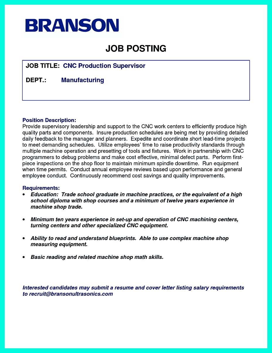Cool Writing Your Qualifications In Cnc Machinist Resume A Must Check More At Http Snefci Org Writing Qualifications Cnc Machinist Resume Must