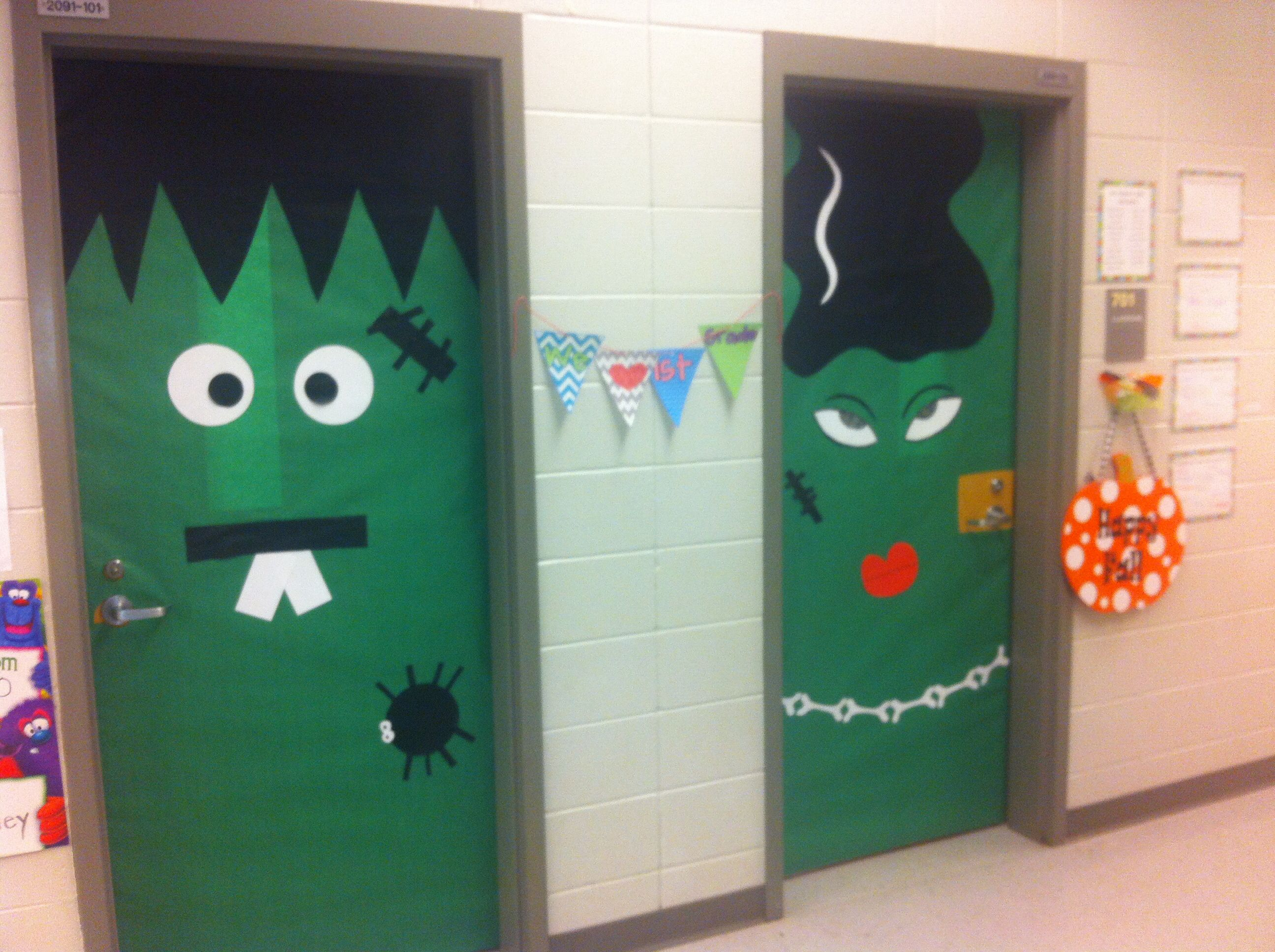 Halloween door decorations Classroom Door Ideas Pinterest - Halloween Door Decorations
