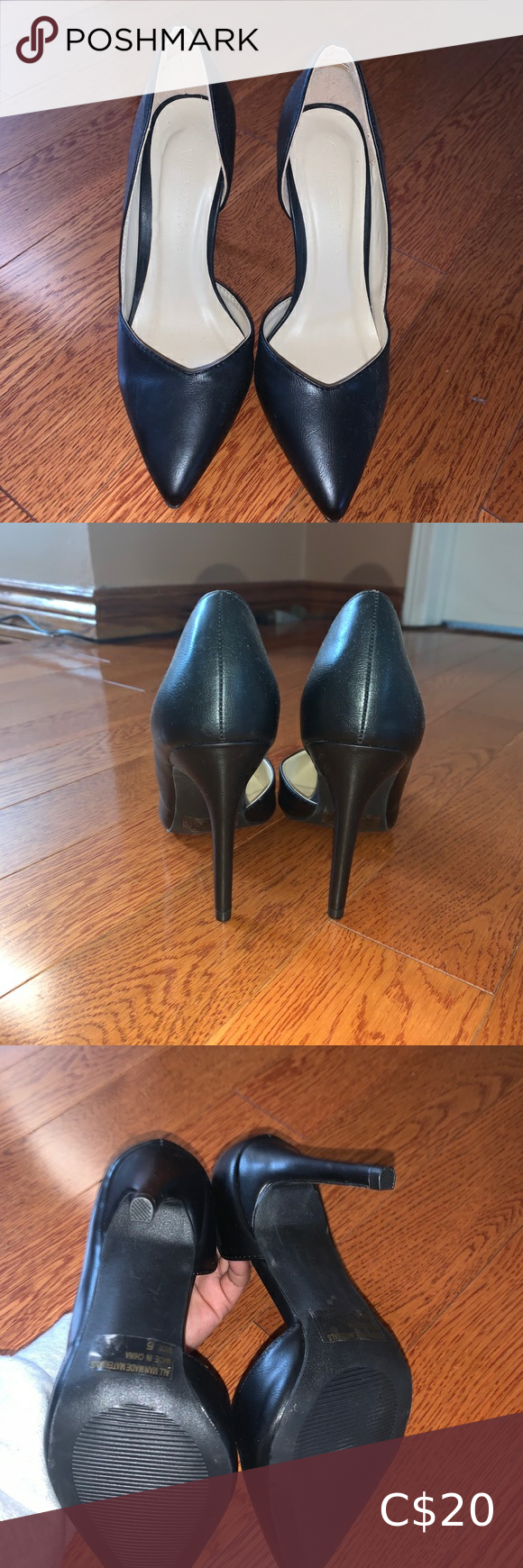Black heels Size 6. Never worn. Bought a while back but never wore them. Wild Diva Shoes Heels