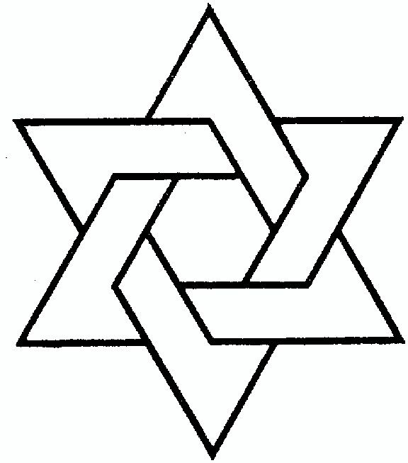 Jewish star holiday stencils