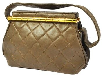 f30d1fa4a19 Chanel Quilted Cc Hand Leather Vintage Brown Tote Bag. Get one of the  hottest styles