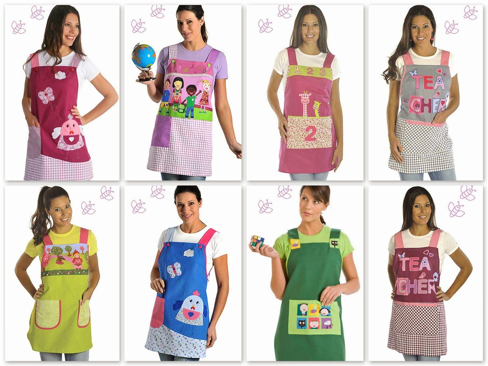 Resultado de imagen para delantales para maestras | Bolsas Decoradas ...