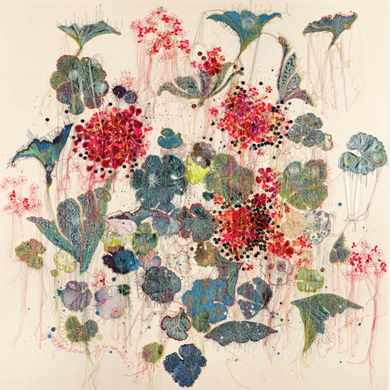 I am delighted to introduce the contemporary embroiderer Louise Gardiner . She creates intricate, embellished, one-off designs that incorpor...