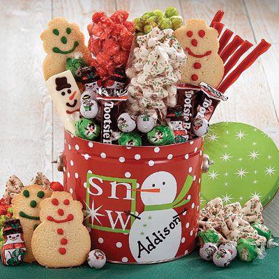 Cute christmas gift basket navidad centro mesa - Mesas de navidad originales ...