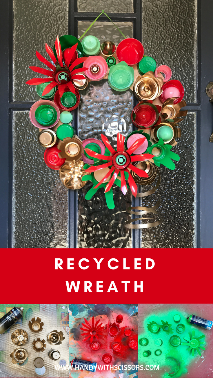 Amazing Recycled Christmas Wreath Using Plastic Bottles Recycled