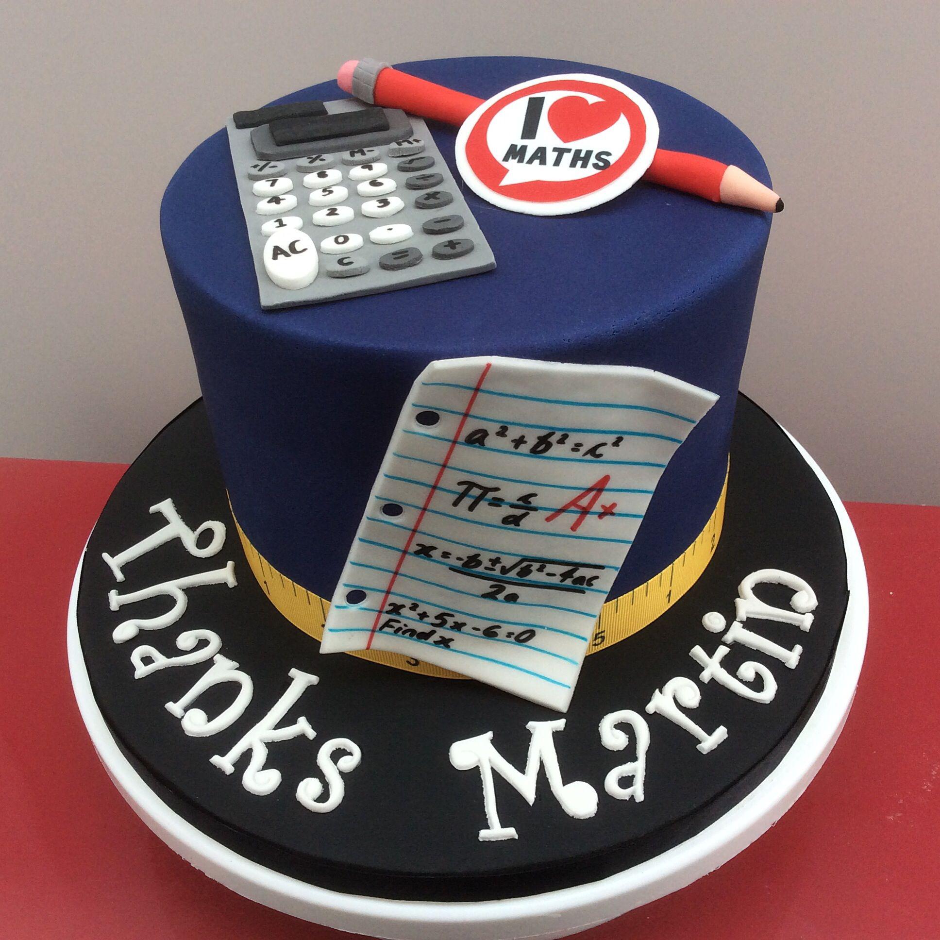 Maths Teacher Thank You Cake