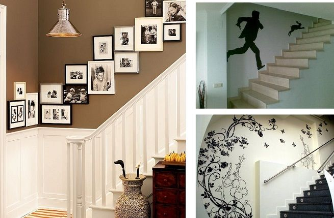 Composicion cuadros decoracion pinterest escalera - Como decorar una escalera interior ...