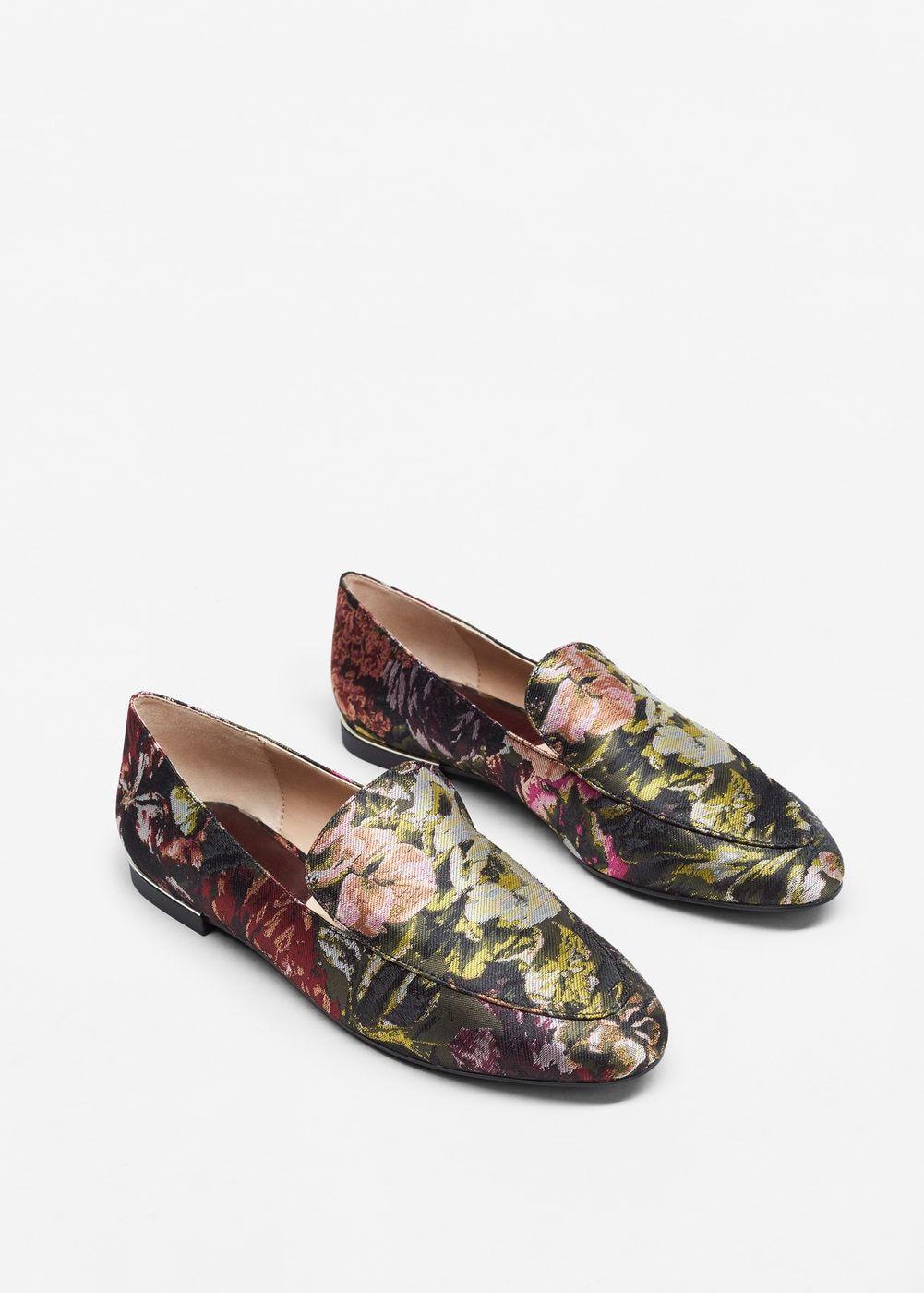 MujerMango Jacquard ZapatosZapatos Floral Y Mocasín gYb6fy7