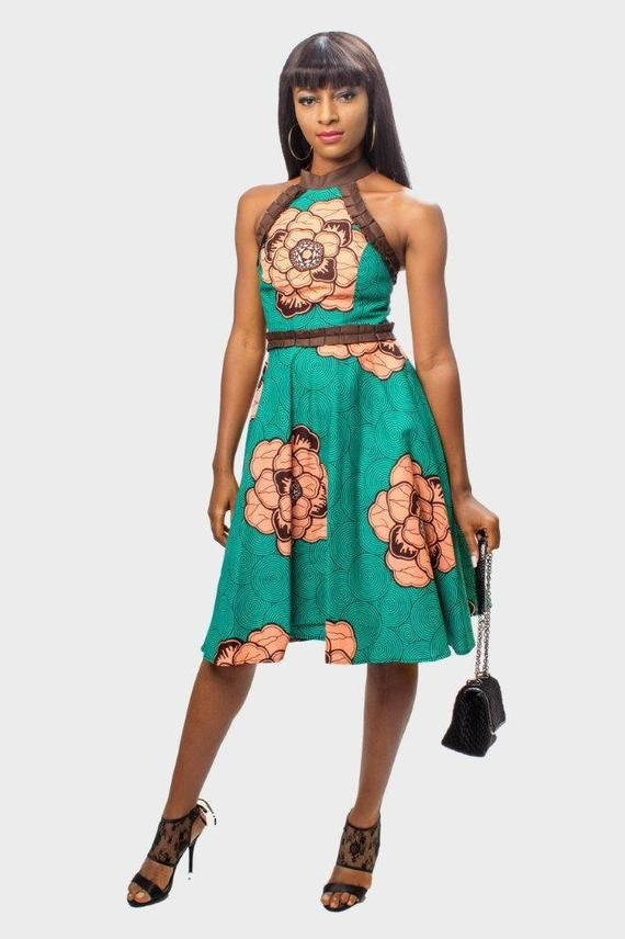 6b5679a630a Ankara Halter Neck Dress