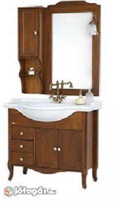 Rusztikus fa fürdőszoba bútor kompletten 85cm-es Karácsonyi Akció ...