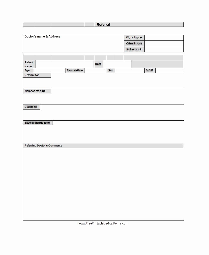 Physician Referral Form Template Unique 50 Referral Form Templates Medical General Template Lab Card Templates Free Referral Cards Business Template