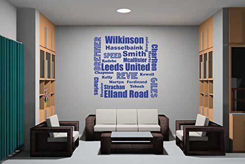 Football Word Clouds Leeds Wall Sticker Vinyl Transfer Decal X - Custom vinyl stickers leeds