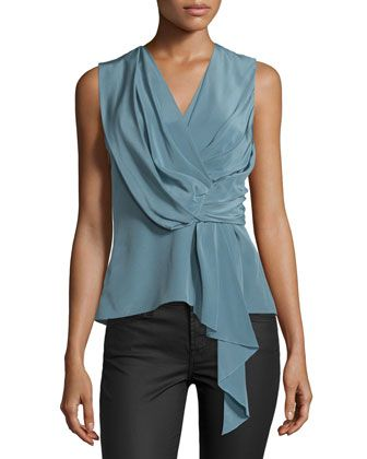 42a74fa96b3d7d Sleeveless+Draped+Blouse