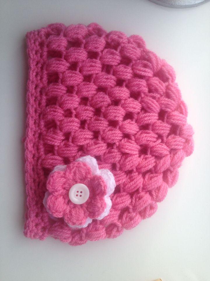 Muts Gehaakt Met Puff Stitch Haken Baby Handmade