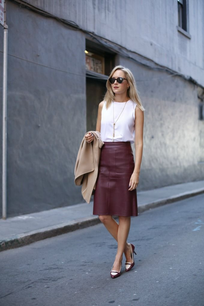 10 Fashion Must-Haves for Business Women | Leather skirt