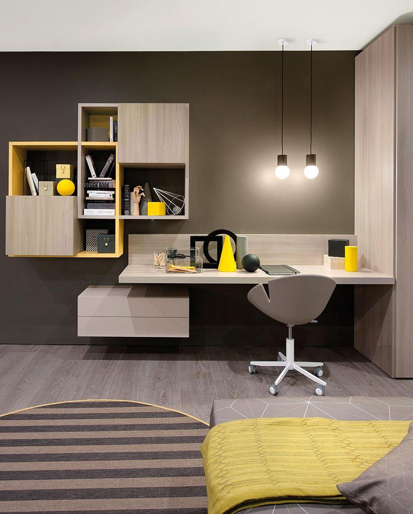 Creer Des Rangements Pratiques Et Design Pour Votre Bureau Meuble Bureau Design Decor De Bureau A Domicile Bureau A Domicile