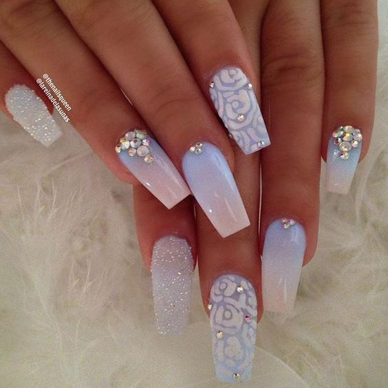 48 Summer Acrylic Coffin Nails Designs 2019 Cute Acrylic Nails