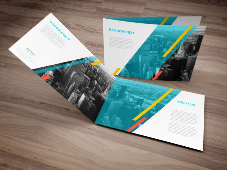 A4 Landscape Brochure Mockup Business card design Pinterest - gate fold brochure mockup