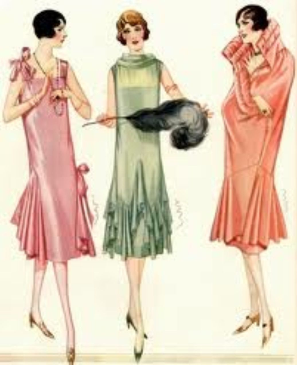 1920s Fashion Sketch Fashion Illustration Vintage Art Deco Fashion 1920s Fashion