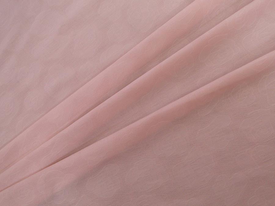 Jacquard Bouquet (Rosa). Jacquard com relevo em forma de rosas. Gramatura menor em relação a outros jacquards, permitindo que seja mais maleável. Toque agradável.  Sugestão para confeccionar: Calças, blazers, shorts, entre outros.