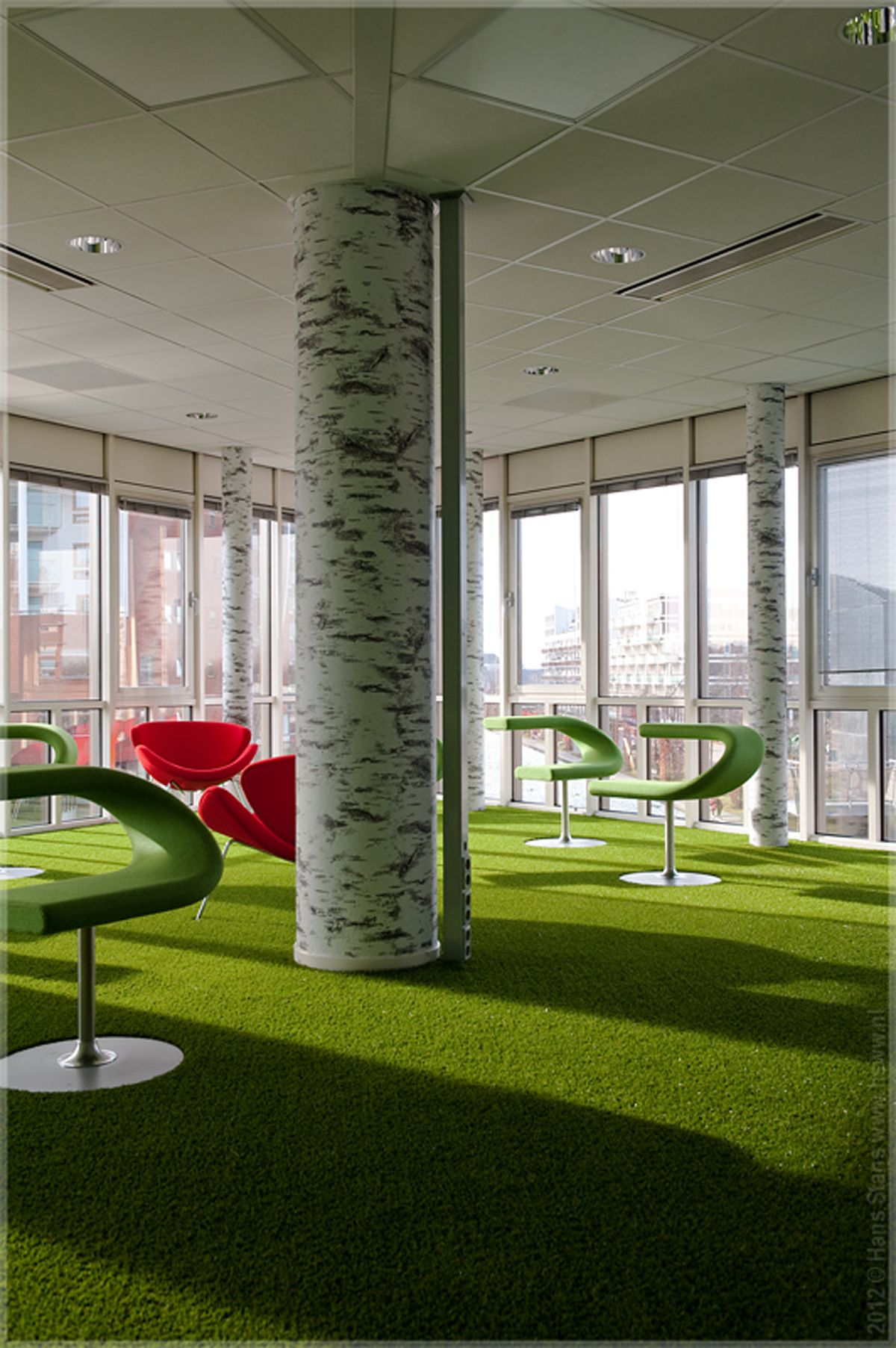 Artificial grass for decorative use