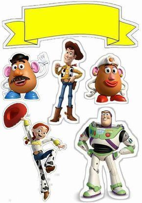 Topo De Bolo De Papel Para Imprimir Toy Story Com Imagens