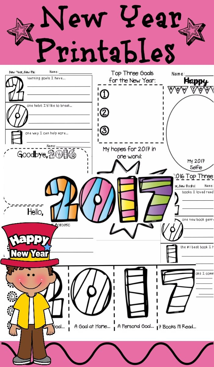 new year 2018 activities 2017 printables elementary schools and goal. Black Bedroom Furniture Sets. Home Design Ideas