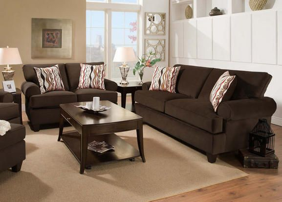 Plush Living Smooth And Sophisticated Style Pervades In The Soothing Design Of The Casino Collection Red Living Room Set Sofa And Loveseat Set Red Loveseat