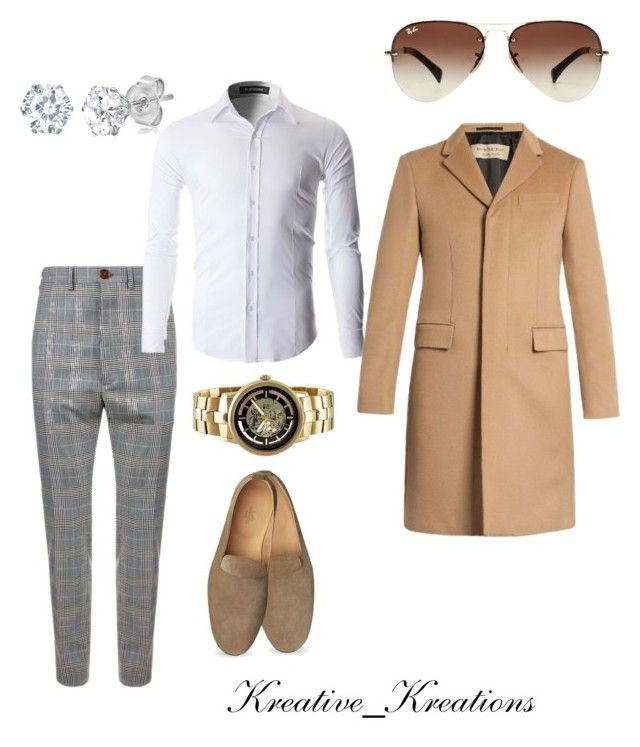 """""""Untitled #30"""" by nicolette-washington on Polyvore featuring Vivienne Westwood, Amanda Rose Collection, Kenneth Cole, Burberry, Ray-Ban, men's fashion and menswear"""