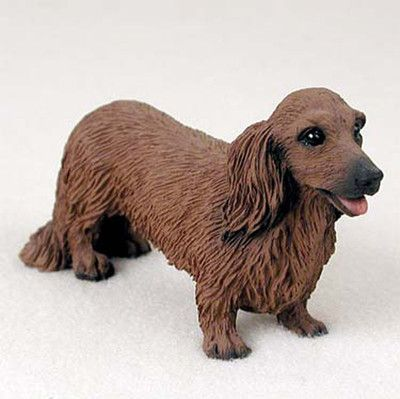 Details About Dachshund Figurine Hand Painted Collectible Statue