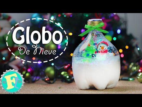Globo De Nieve Con Bote De Refresco Decoración Navidad