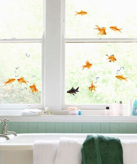 Nouvelles Images Fish Window Cling Set Window, Bathtubs and Decorating