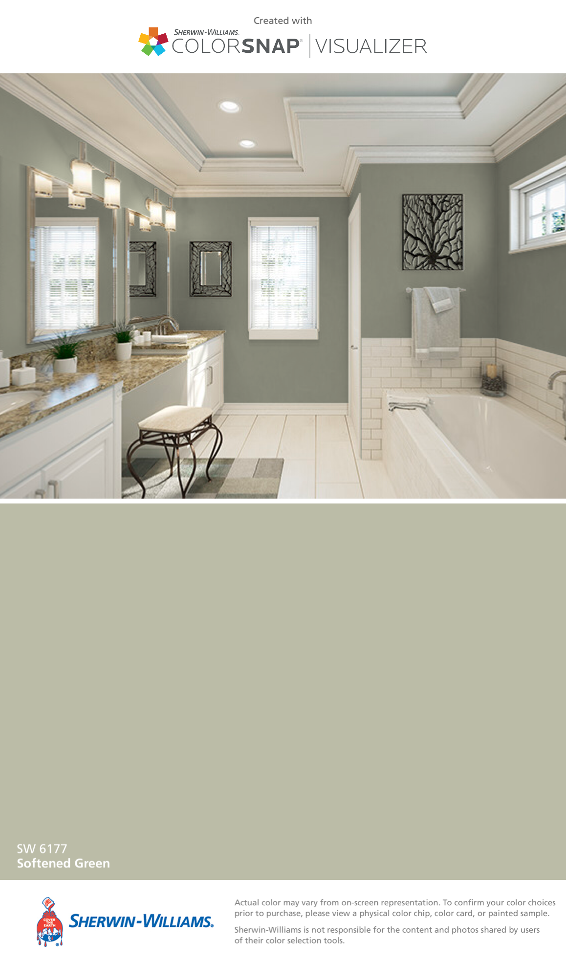 I Found This Color With Colorsnap Visualizer For Iphone By Sherwin Williams Softened Green Sw