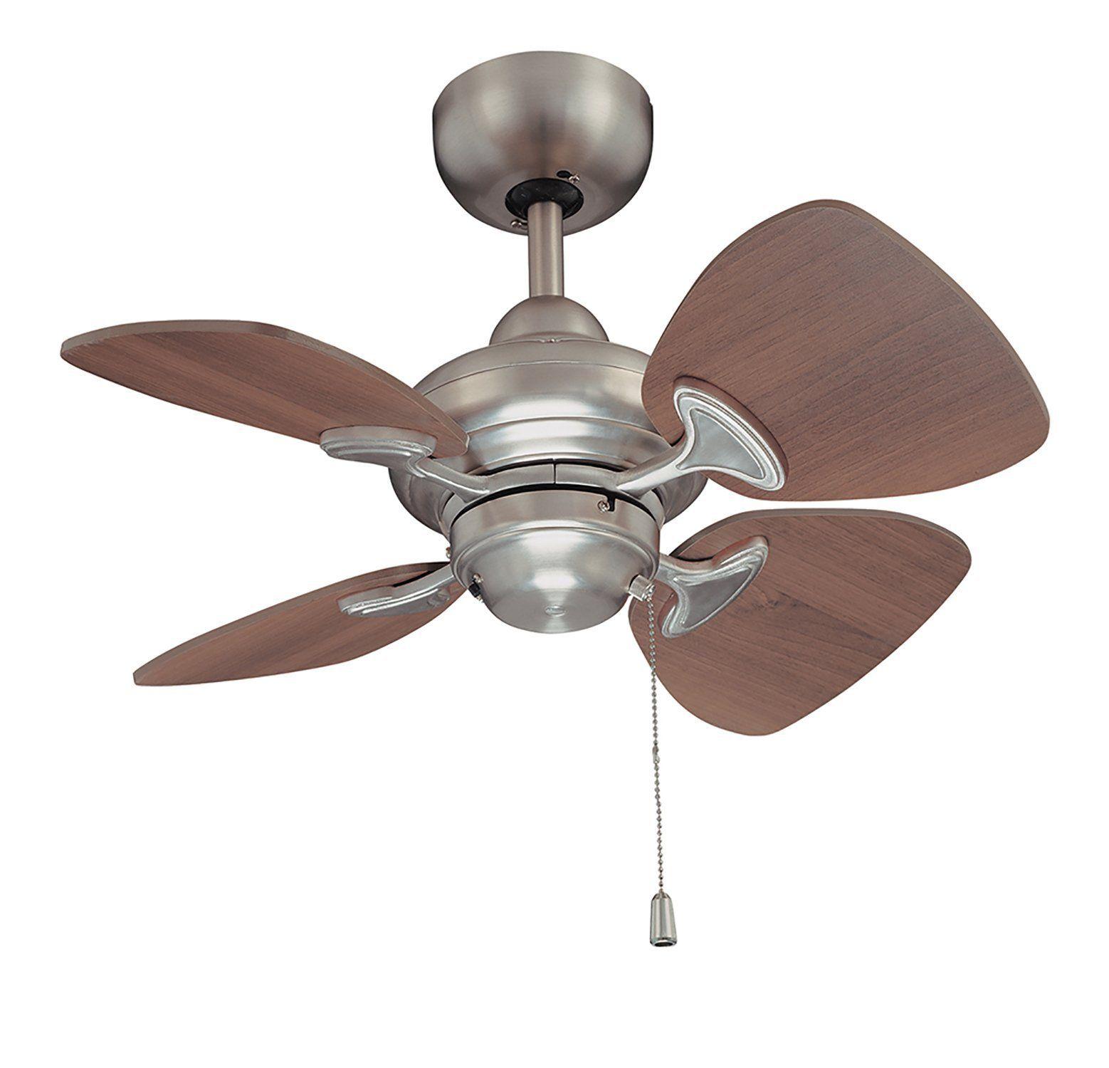 Kendal Lighting Ac16324 Sn 24 Inch 4 Blade In 2020 Ceiling Fan Ceiling Fan With Light Fan Light
