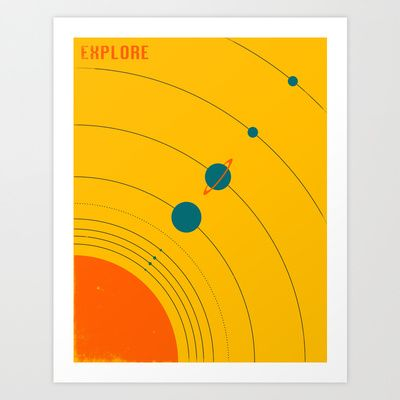 EXPLORE Art Print by Jazzberry Blue - $19.00 | wall decor ...