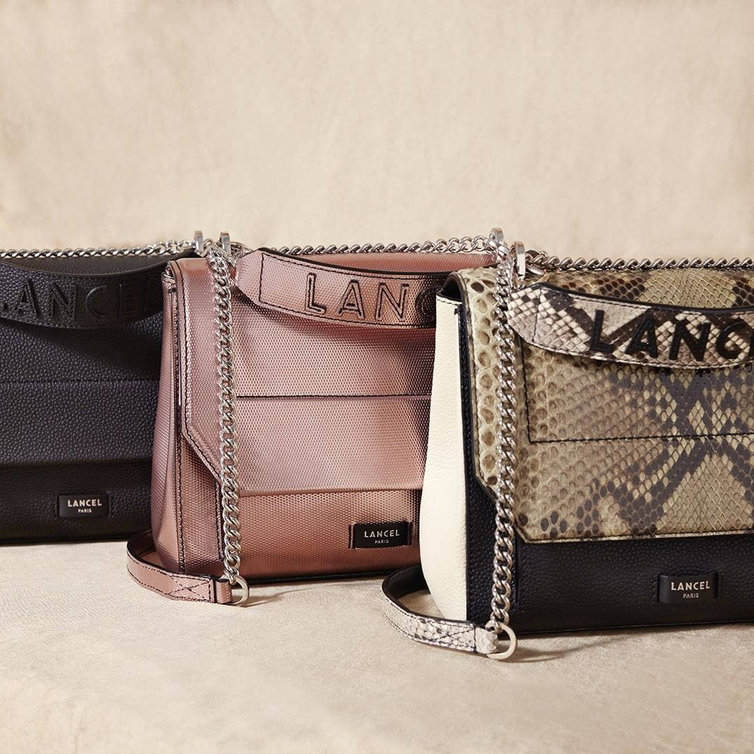Lancel On Instagram Jamais Deux Sans Trois Ninon Cuir Graine Et Python Vert Militaire Noir Et Crem Bags Wallet On A Chain Rebecca Minkoff Mac Crossbody