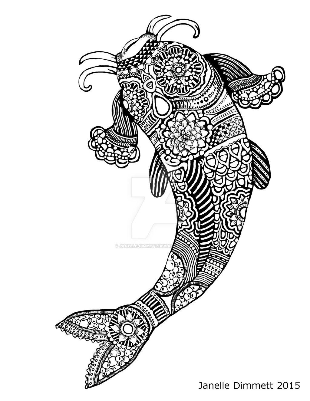 Groß Japanische Koi Fisch Malvorlagen Ideen - Malvorlagen Von Tieren ...