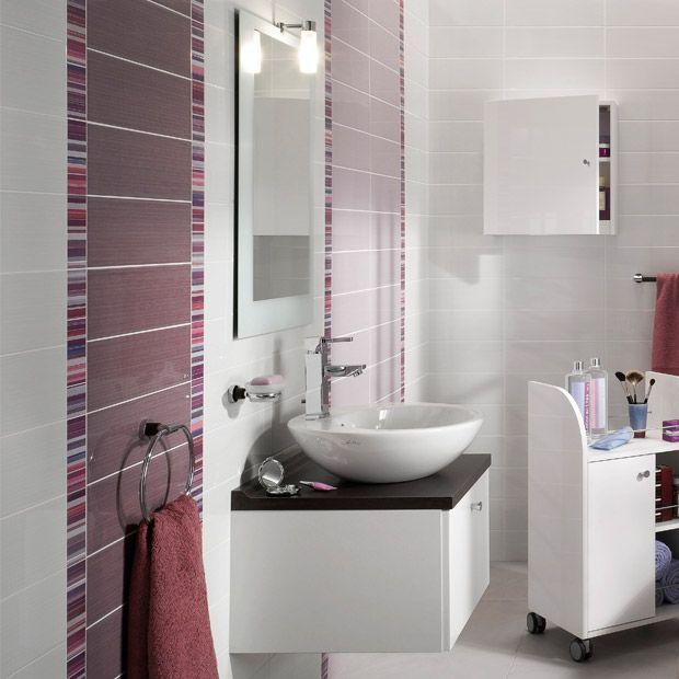 carrelage murs tiffany les design lapeyre salle de. Black Bedroom Furniture Sets. Home Design Ideas