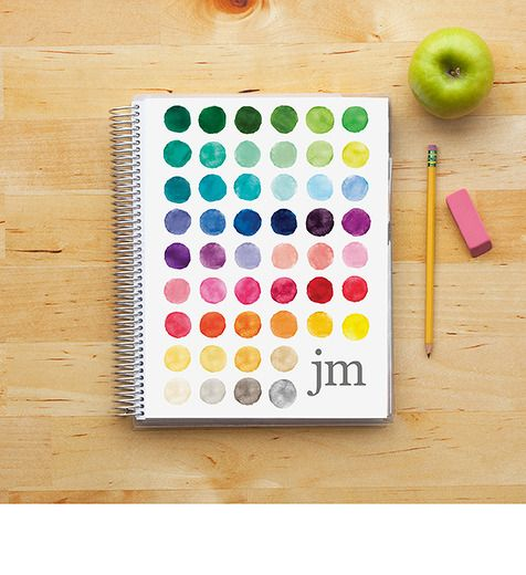 watercolor palette - teacher's lesson planner - $59 (or 25% off until July 19 with code TEACH25) plus $8 shipping