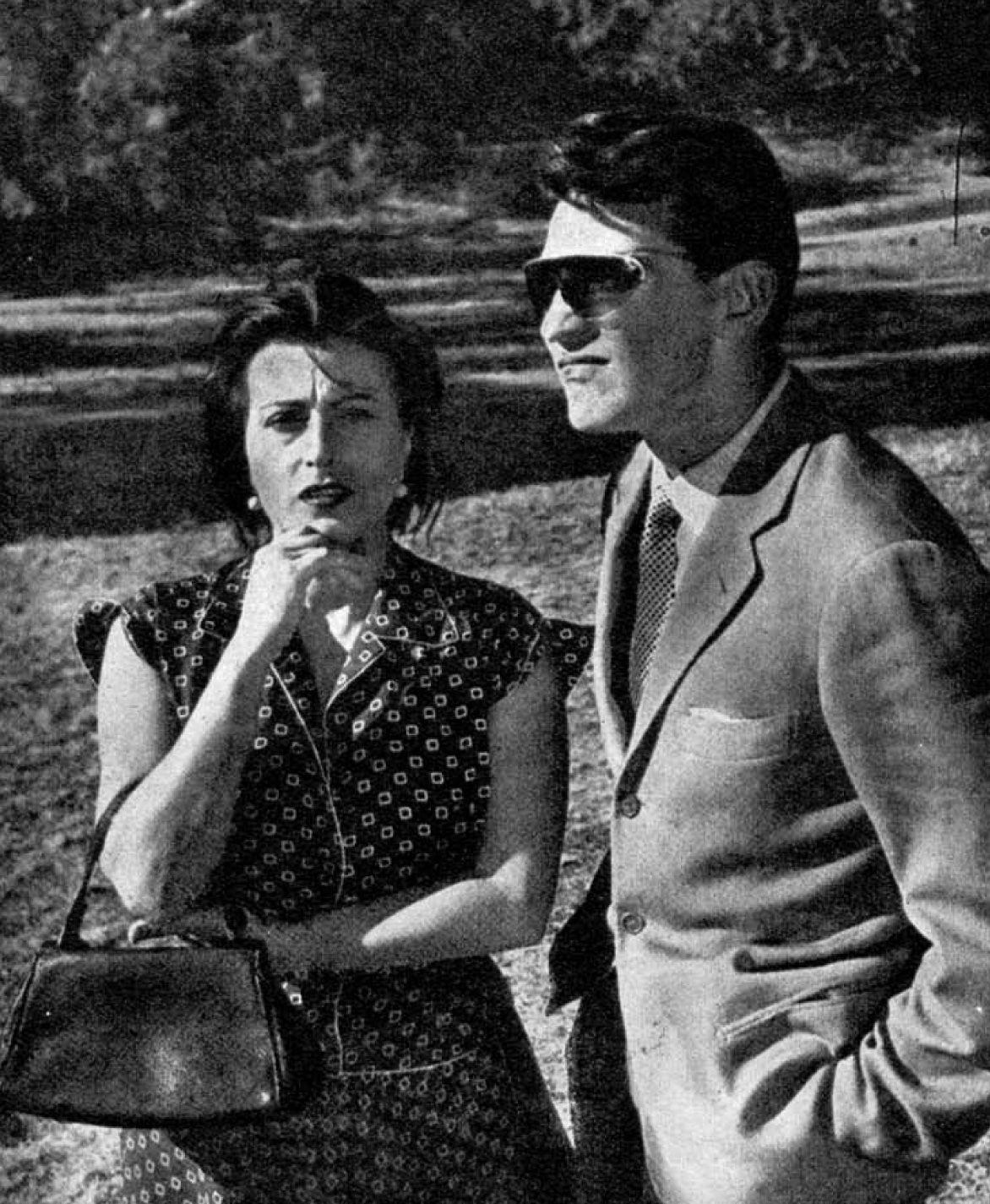 """Anna Magnani e Walter Chiari in """"Bellissima"""""""