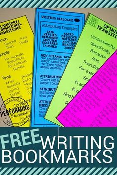 I love these printable writing bookmarks! There's one for every writing type... explanatory, informational, and narrative!