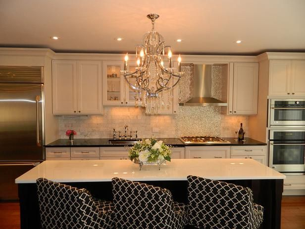 Contemporary Kitchens From Lugbill Designs  Designers' Portfolio Cool Chandelier Kitchen Inspiration