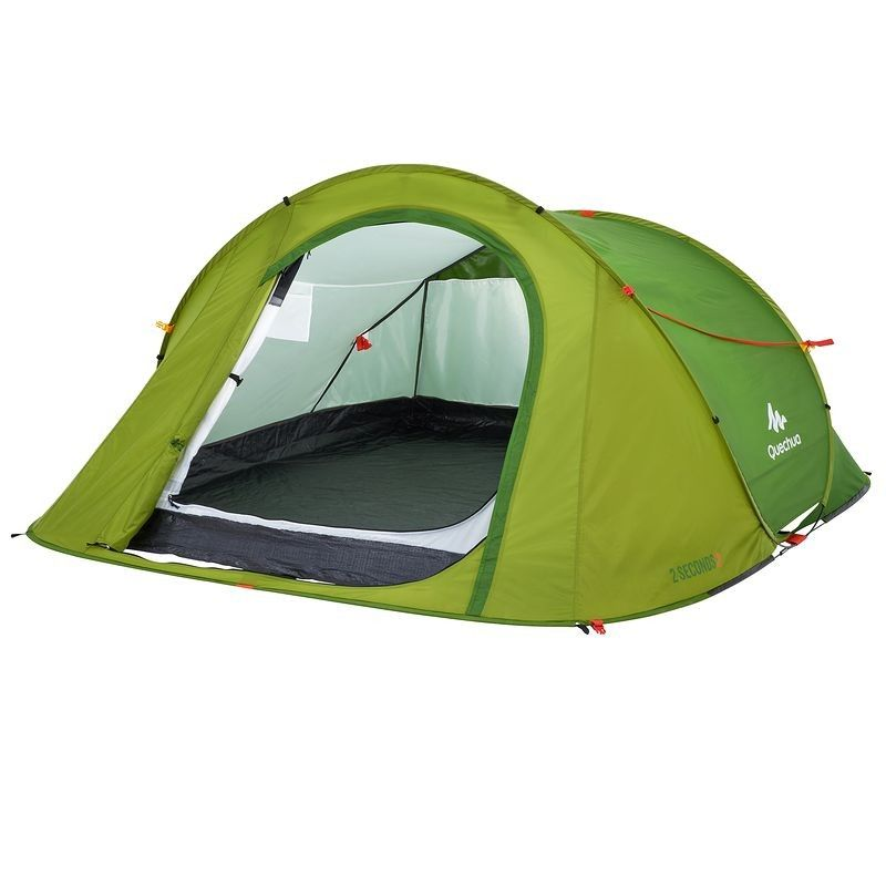 Tente De Camping 2 Seconds Bleue 3 Personnes Camping Camping 2 Camping Tente