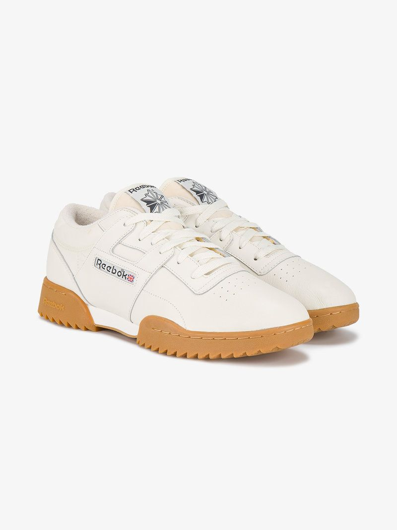 REEBOK WORKOUT CLEAN RIPPLE VINTAGE SNEAKERS. #reebok #shoes