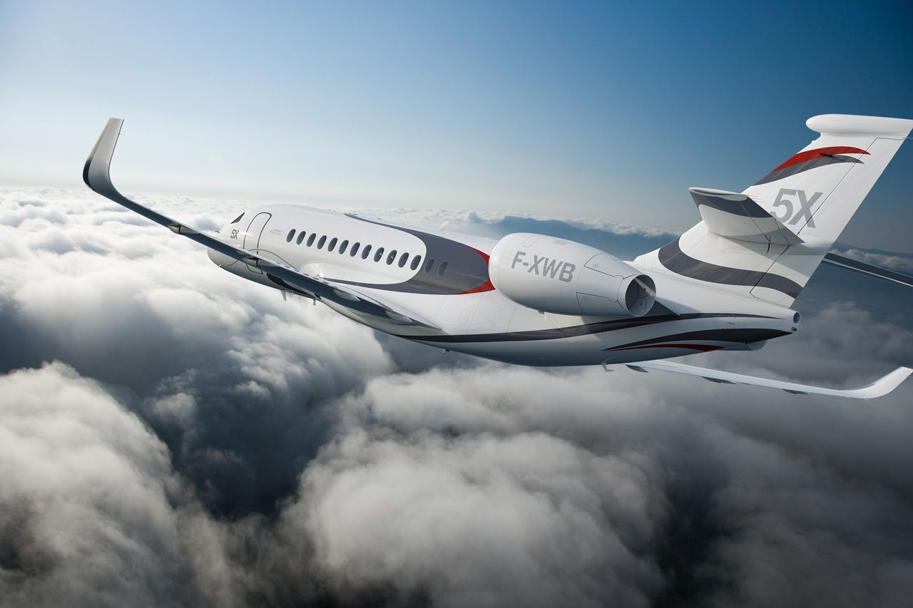 Dassault Falcon 5X In-flight View - from Aviation Week & Space Technology - October 2013