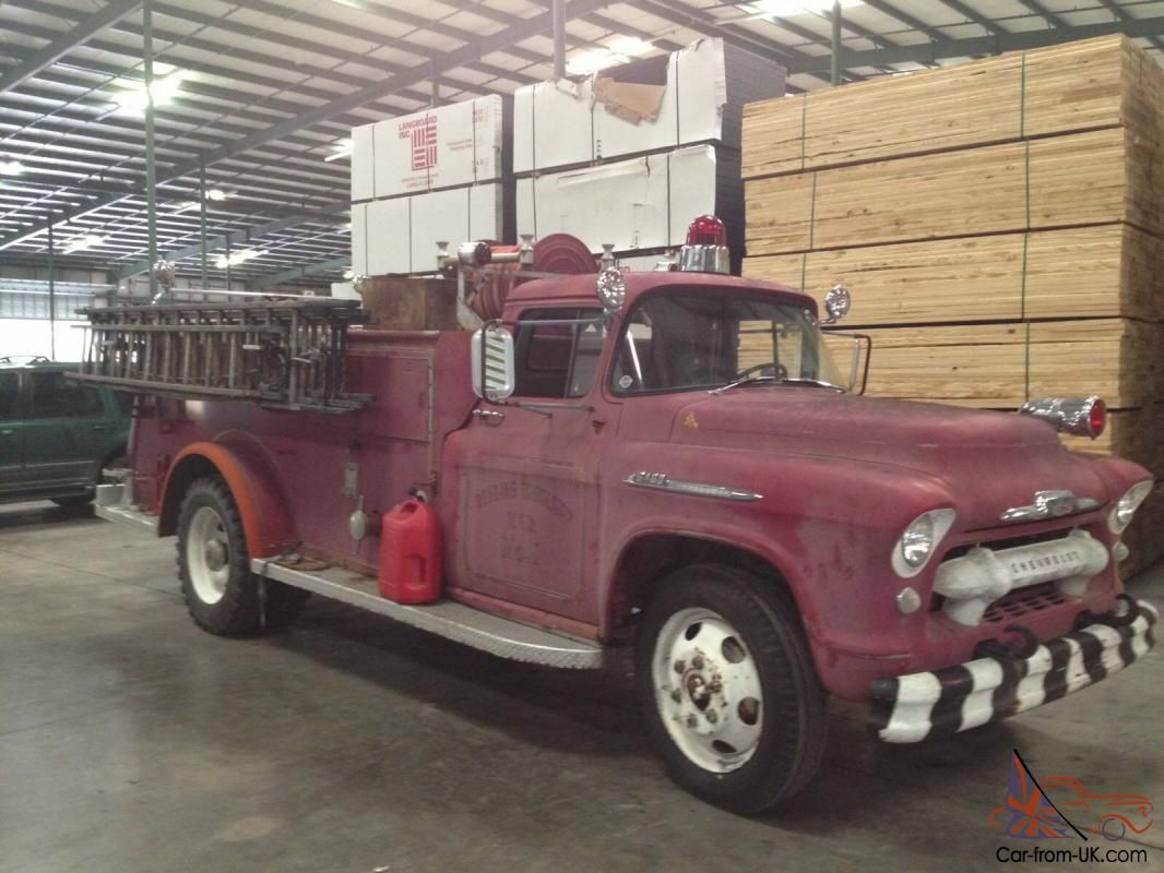 1956 chevy 6400 truck chevrolet chevy american fire truck 1956 classic historic