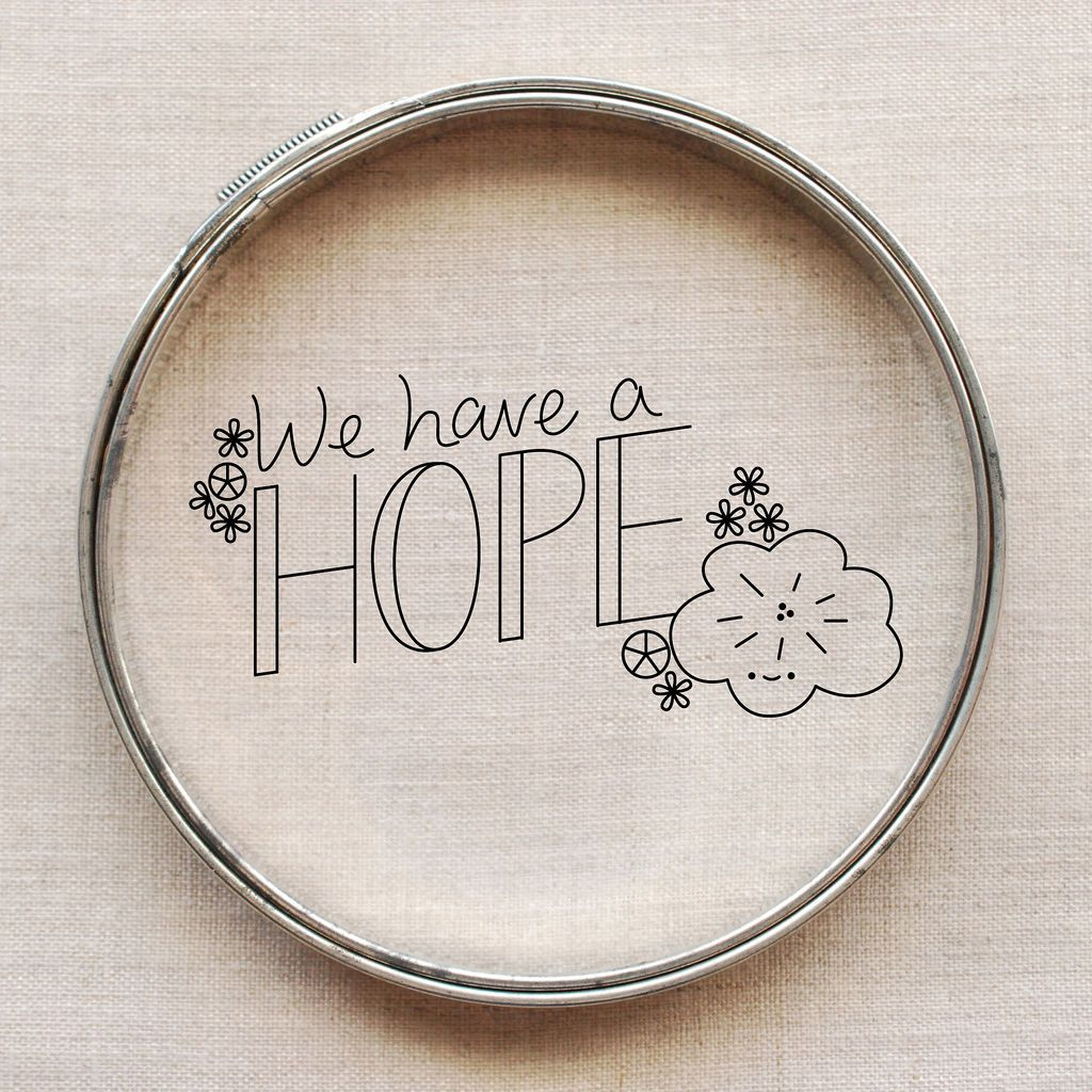 We Have A Hope (in Jesus) embroidery pattern. Advent.   Stoop Edd ...