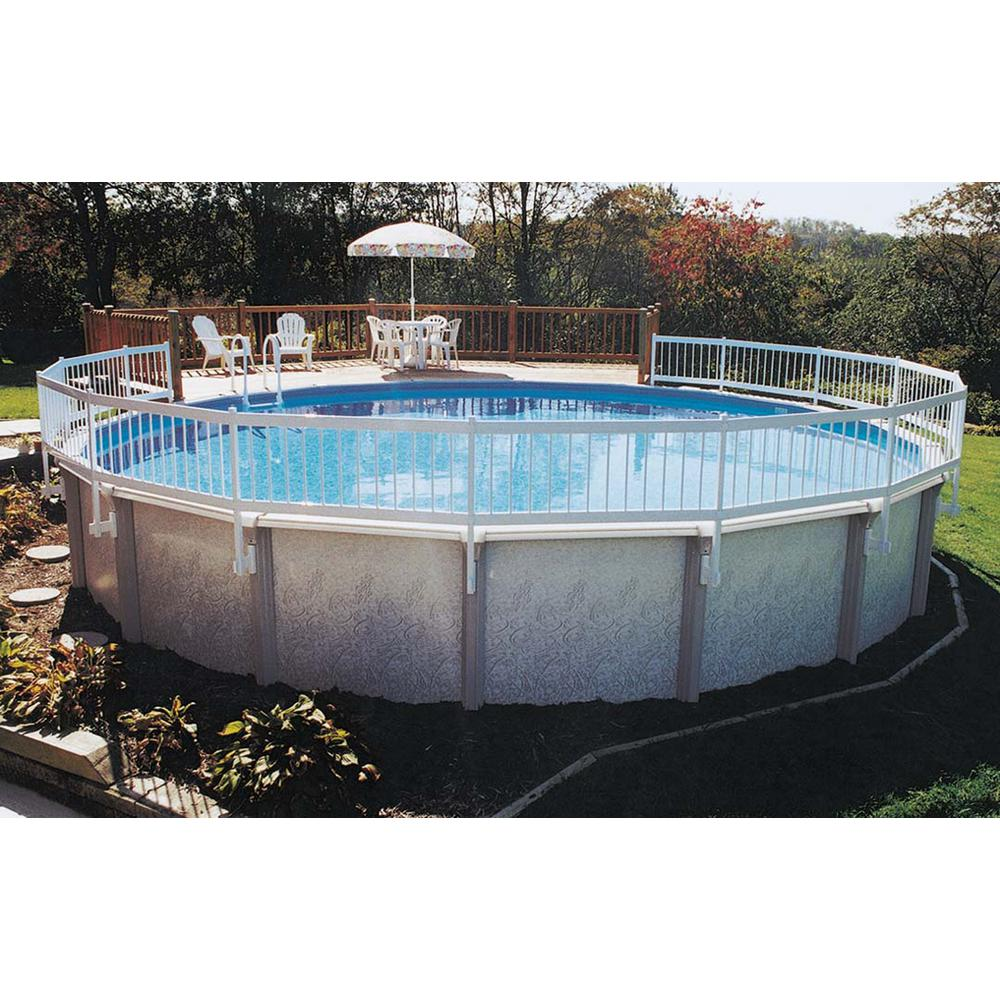 Gli Pool Products Above Ground Pool Fence Add On Kit C 2 Sections Ne147 The Home Depot Above Ground Pool Fence Above Ground Swimming Pools Pool Safety Fence