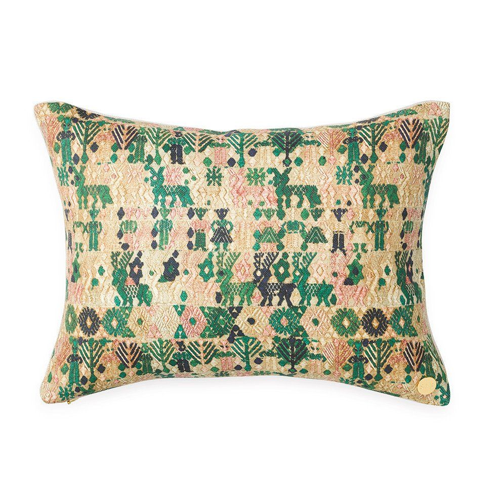 Forest huipil printed pillow pillows linens and traditional